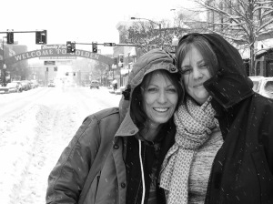 Filmmakers Karen Whitehead & Katherine De Francis on location, Colorado, USA Copyright IMITATING LIFE 2015