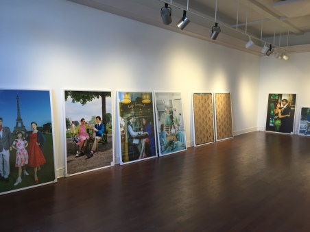 On Location with Suzanne Heintz at hanging of first one woman show, Firehouse Art Center, Longmont, Colorado, USA Copyright IMITATING LIFE 2015