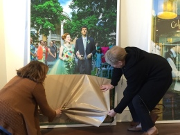 Heintz gets help from her mum to uncover the most unusual bride and groom wedding photo. Copyright IMITATING LIFE 2015