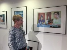 Heintz's Mum, Ann, checks out her daughter's work & recognises some vintage family crockery in the shots!