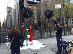 Heintz on location for another photo shoot using the famous New York skyline as her backdrop. copyright IMITATING LIFE 2015
