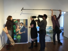 During hanging of her gallery show, Suzanne Heintz shares some behind the scenes stories about creating the perfect images with her fake family. copyright IMITATING LIFE 2015