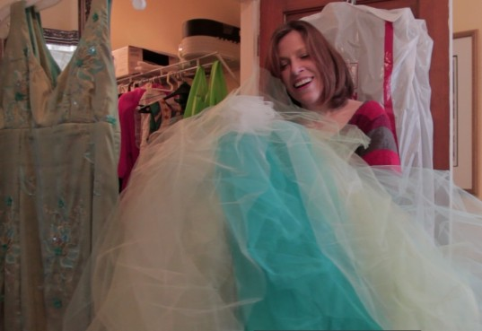 Spending some time inside Heintz's artist wardrobe was fascinating. Here Heintz tells the story behind the peacock petticoat design for her fake wedding dress photos. copyright IMITATING LIFE 2015