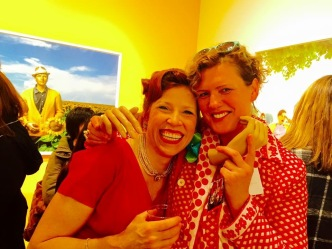 Suzanne and fellow mannequin artist Asia Kepka