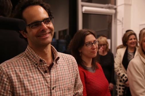 Cameraman Pierre Kattar and PA Lucrezia Wise